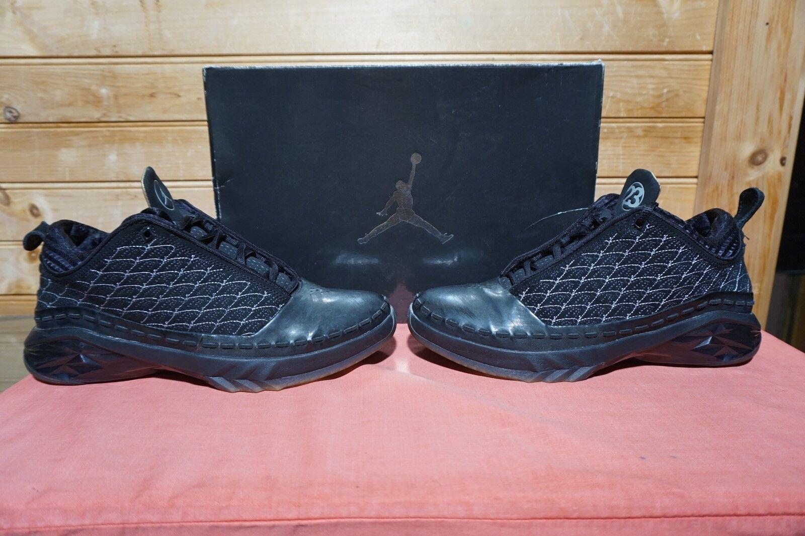 2008 Nike Air Jordan 23 Low Black Black Black Dark Charcoal Silver Sz 7.5 (0410) 323405-071 664fdc