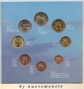 FINLANDIA DIVISIONALE 2001 BU FDC 8 monete MOLTO RARA
