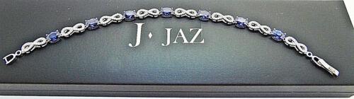 con 7 zafiro Infinity plata 25 925 de J Rhodium Silver infinita Jaz Plated Sapphire 25 Bracelet Pulsera 7 Blue plateado de J 925 Jaz rodio con nB0xzq7Owx