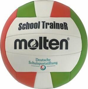 Molten volley schooltrainer schulvolleyball blanc/vert/rouge taille 5