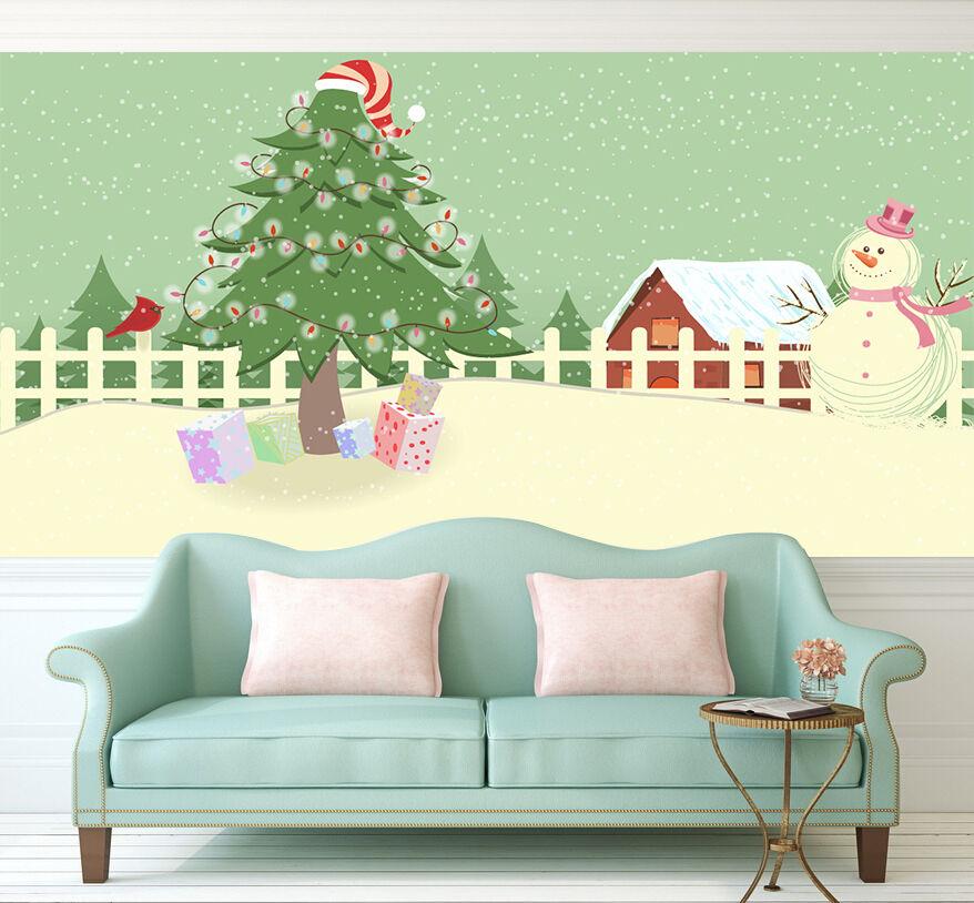 3D Weihnachten Bäume, Geschenke 66 Fototapeten Wandbild BildTapete Familie DE