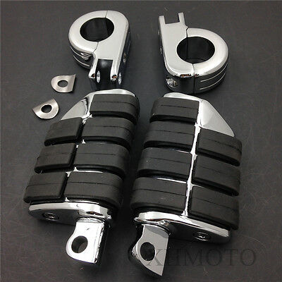 """Highway P Clamps 1 1/4"""" Large Foot Pegs For H-D Sportster 883 XL1200"""