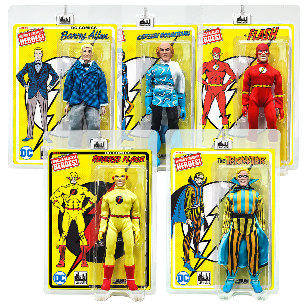 DC Comics Flash Series Retro Style 8 Inch Figures  Set of all 5