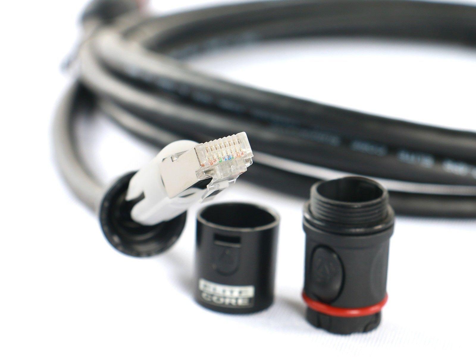 Elite Core SUPER CAT5E CS45 DurableTactical Shielded Ethercon RJ45 Cable Lot