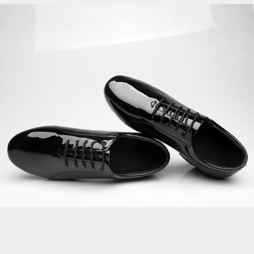 Details about  /Hot Black Men/'s Patent Leather Soft Soled Latin Rumba Tango Ballroom Dance Shoes