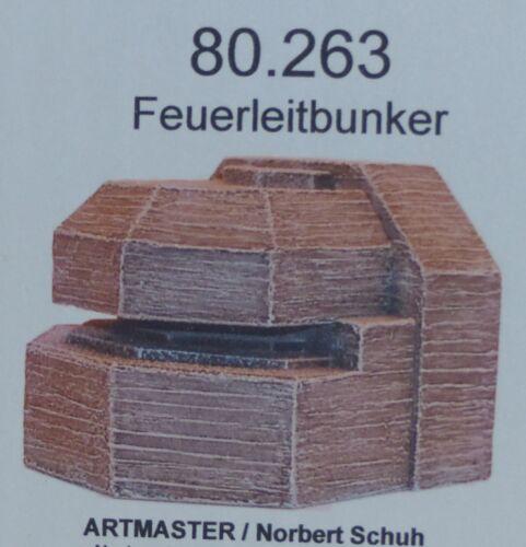 Artmaster 80.263 Feuerleitbunker 1 H0 1:87 Bausatz unbemalt Keramik Bunker