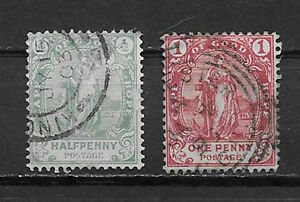 CAPE OF GOOD HOPE , HOPE , 1893/1902 , SET OF 2 STAMPS , PERF , USED