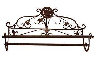 Porte-Serviette-Deco-Salle-De-Bains-Retro-Vintage-Shabby-Chic-Marron-Ancien