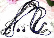 Women Design Party Purple Necklace Collar with Earrings new