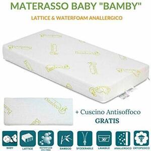 Materasso Lattice O Poliuretano.Dettagli Su Materasso Bambini 60x120 In Lattice E Poliuretano H 12 Con Cuscino Antisoffoco