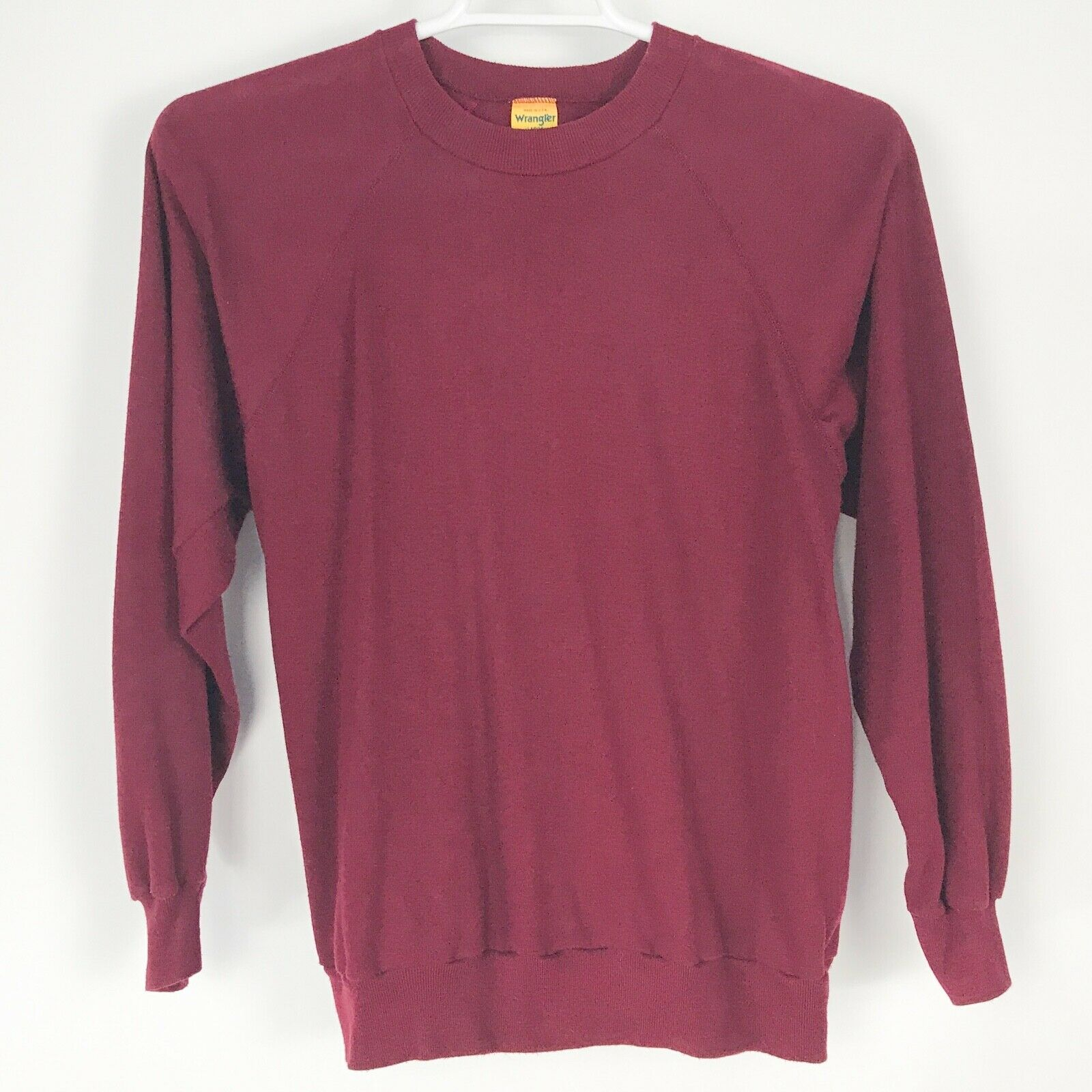 WRANGLER VINTAGE SWEATSHIRT Woherren Casual Made USA Top Sweater Größe Large L