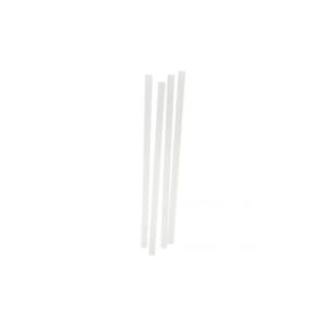 "Jumbo Straight Clear Straws 8/"" Case of 10,000"