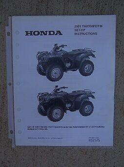 2001 Honda ATV TRX350FE/FM Rancher Set Up Instruction ...