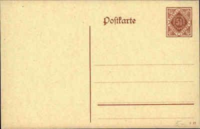 Postkarten Ganzsache WÜrttemberg Post Frei-marke 5 1/2 Pfennig Ungebraucht Deutschland