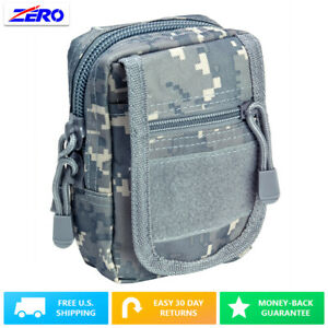 Digital Small Utility Pouch Heavy Duty PVC MOLLE PALS Tactical Gear Zippered