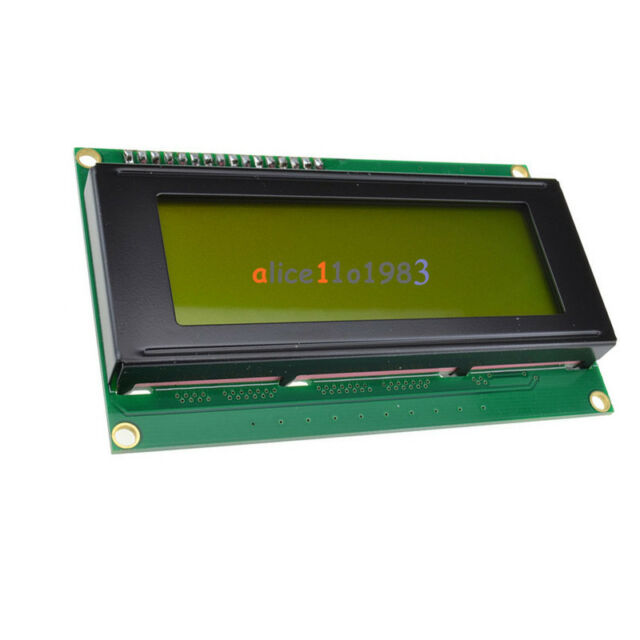 IIC/I2C/TWI/SP​​I Serial Interface2004 20X4 Character LCD Module Display Yellow