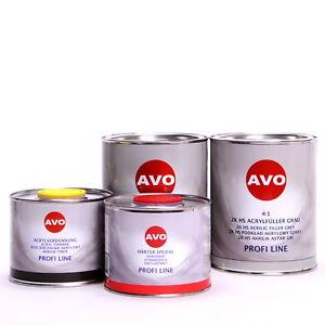 3-Liter-Set-2K-Dickschicht-Grundierfueller-hellgrau-4-1-von-AVO-Autolack-A028