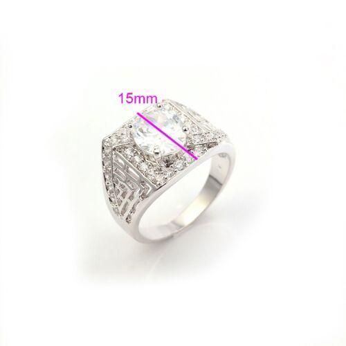 anillo College sello anillo hx10200 circonita Caballeros lujosa anillo rhodiniert