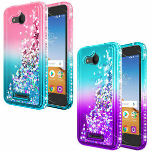 Details about Alcatel Tetra 5041C Case | NageBee® Liquid Glitter Cute Bling  Protective Cover