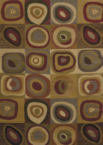 """Multi 2x7 Loop Contemporary Hoop Checked Runner Rug Actual Size 1/' 11/"""" x 7/' 2/"""""""