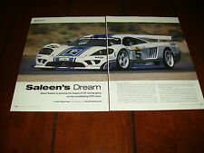STEVE SALEEN - S7R RACE CAR  ***ORIGINAL 2001 ARTICLE***
