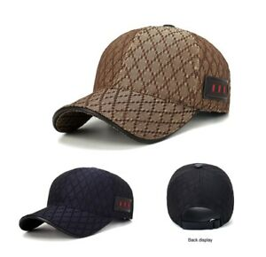 NEW Fashion Luxury Men s Cotton Baseball Hat Cap Golf Casual Hats ... ec5ea025982