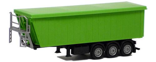 Chassis schwarz Herpa SZ Kempf Kippmuldenauflieger 3achs gelbgrün