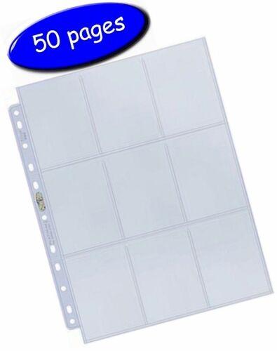 Black Ultra Pro Collectors Album//Binder /& 50 Platinum 9 Pocket Pages inc UK Post