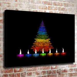 Christmas Candles Art Print Home Decor Wall Art Poster G