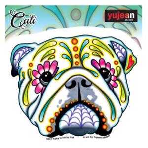 English-Bulldog-Sticker-Decal-Car-Window-Laptop-Sugar-Skull-Dog-Cali