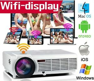 Adaptable Projecteur Led Android Wifi 3500 Lumens Full Hd Mi 1280x800 3d Ready Home Cinema