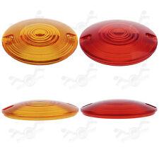 4x Amber&Red Lens Turn Signal Light Cover Lens for Harley FLHT FLSTC FLHR FLTCU