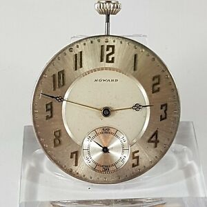 Howard Pocket Watch Movement! working , good condition !