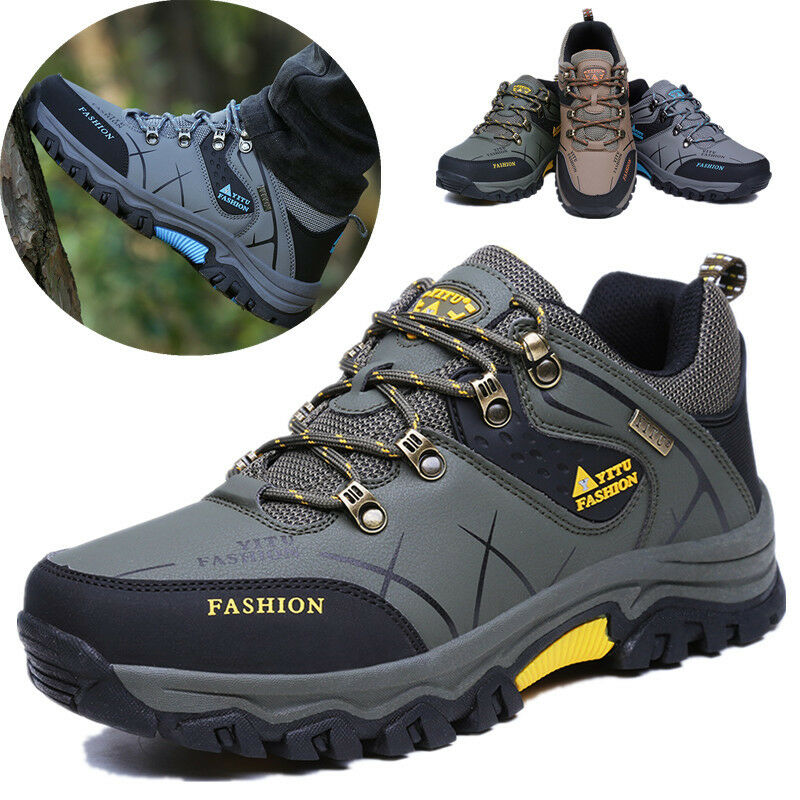 Mens Outdoor Large Size Waterproof Hiking Boots Fashion Sports Shoes Trainers