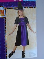 Brand Girls Witch Halloween Costume By Rubie's. Size S (4-6).