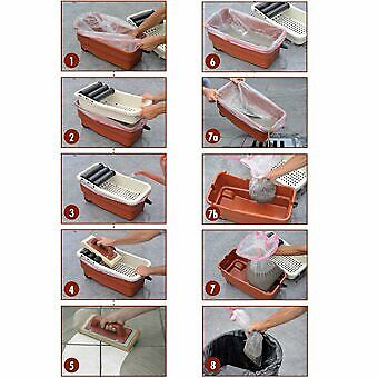 Sponge Towel /& More Floor /& Wall Grout Cleaner System w// Wheeled Wash Bucket