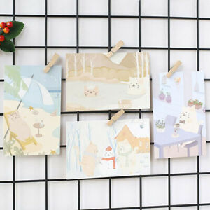 30Pcs-Lot-Paper-Greeting-Card-Gift-Card-Life-Day-Cute-Cat-Pattern-Postcard-New