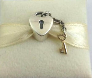 760d75ad3 Authentic Pandora Key To My Heart Sterling Silver, 14K Gold Charm ...