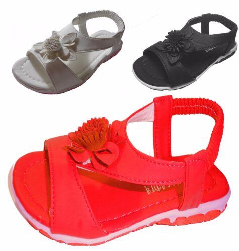 Baby Toddler Girls Flower Slip on Elastic Slingback Ankle Strap Sandals Size 3-8