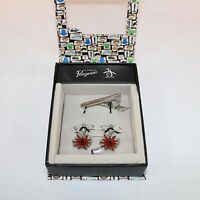 Original Penguin By Munsingwear Cuff Links & Tie Pin Sets In Gift Box 1740