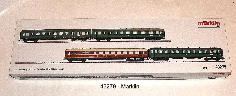 Märklin 43279 vagoni-Set DB 4 pezzi adatto a 39034 #neu in OVP #