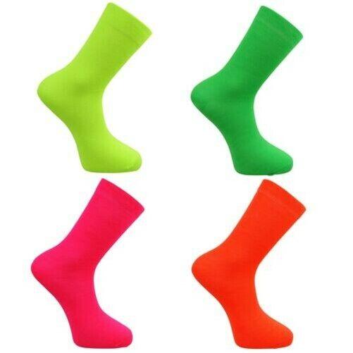 Damen/Mädchen Hell Neon Socken Orange/Gelb/Grün / Pink