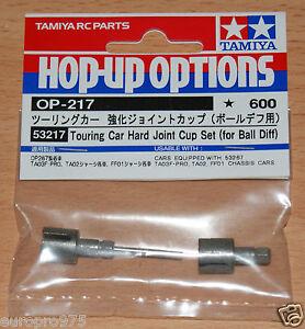 Tamiya-53217-Touring-Car-Hard-Joint-Cup-Set-For-Ball-Diff-TA02-FF01-NIP