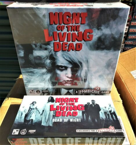 """NIGHT OF THE LIVING DEAD ZOMBICIDE Game KICKSTARTER /""""ALL IN/""""+EXCLUSIVE PACK CMON"""