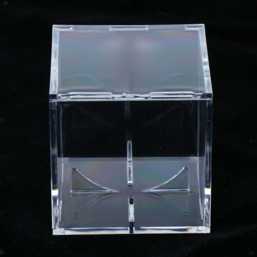 2x Transparent Square Ball Container Baseball Display Case with 4 Stand Arms