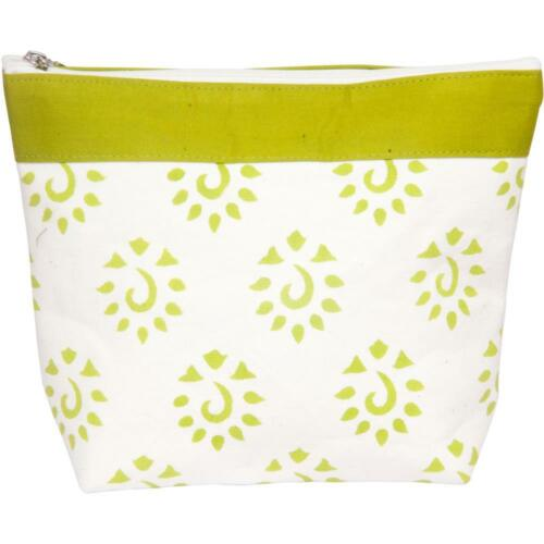 GREAT FOR KNIT /& CROCHET PROJECTS BRIGHT LIME ZIPPERED BAG by KNITTER/'S PRIDE