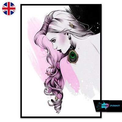 High Fashion Lips Poster Print A4 A3 Wall Art Decor Home Salon Woman Kisses 1439