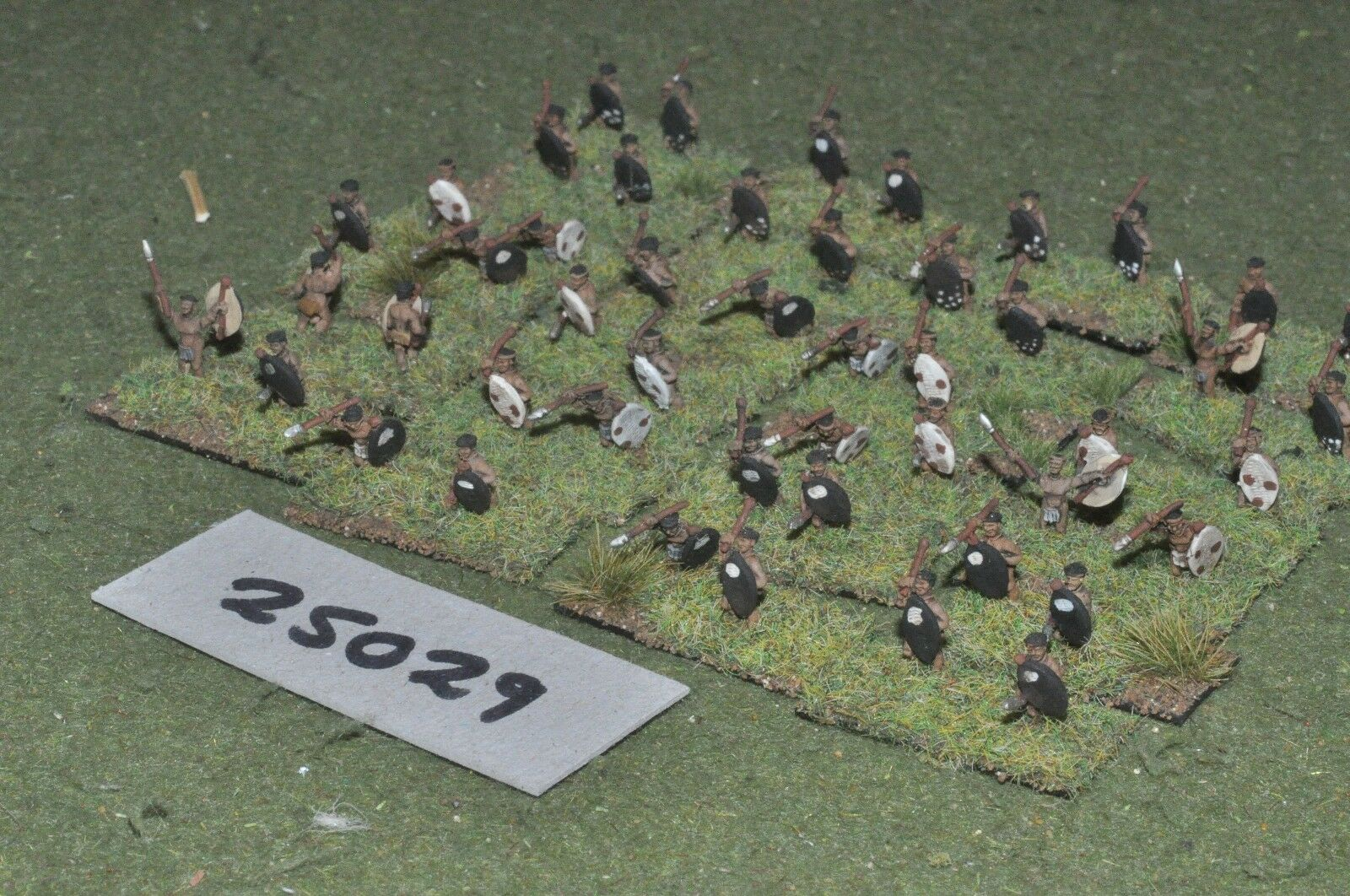 10mm colonial   zulu - warriors 48 figures - inf (25029)