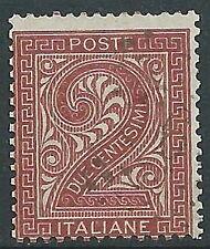 1863-65 REGNO USATO TIRATURA LONDRA CIFRA 2 CENT - R