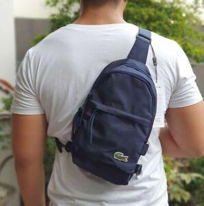 Lacoste Men's Neocroc Canvas Body Bag - Navy Blue